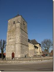 Raatshoven (Racour): Sint-Kristoffelkerk, 16de eeuw met toren uit de 15de eeuw