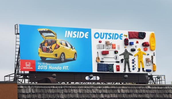 Honda fit publicidad exterior
