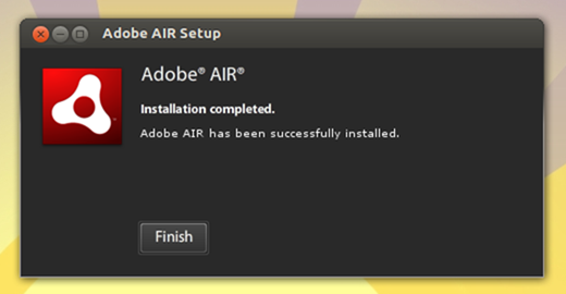 Installing AdobeAir ubunru