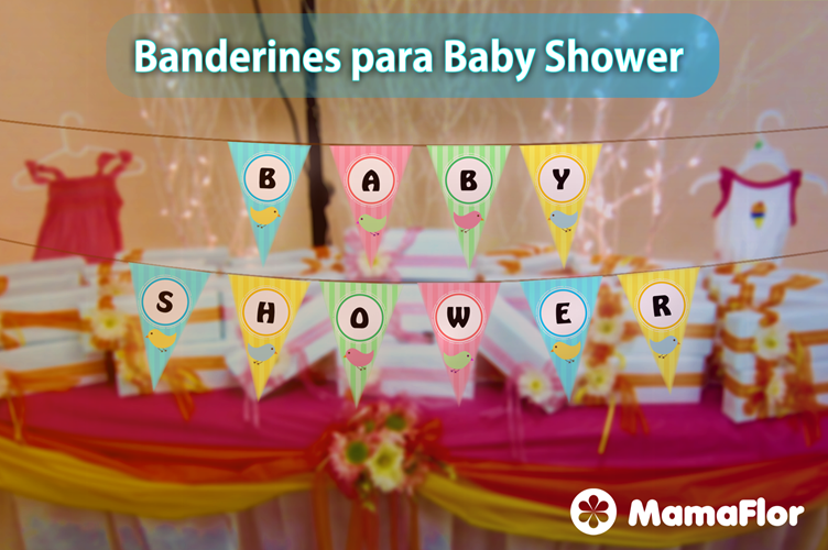 Decoraci N De Baby Shower Banderines Para Imprimir