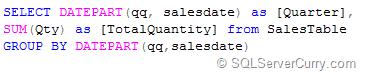 SQL Quarter Grouping
