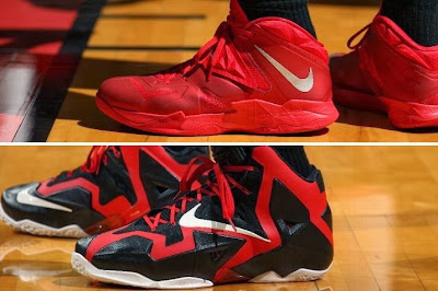 lebron james nba 140129 mia vs okc 29 King James Debuts New Nike LeBron 11 PE for One Quarter