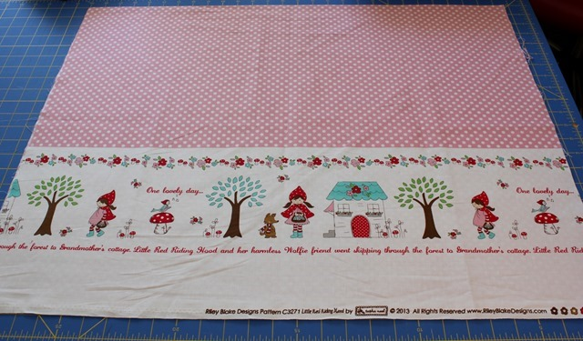 red riding hood little border pink