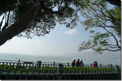 view of Dian Lake, 滇池 in Hai Geng Park 海埂公園