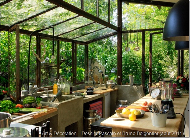 this green house turned summer kitchen belongs to isabella sallusti of graine ficellea working farm and bed and breakfast which offers cooking classes - Summer Kitchen