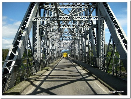 Connel bridge, originally built for the Ballachulish branch of the Callander and Oban Railway now the A828 road.