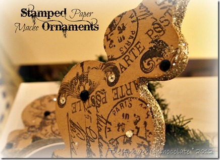 Stamped Paper Mache Ornaments