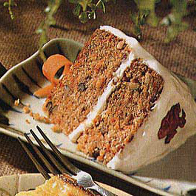 Carrot Cake with Maple-Cream Cheese Icing