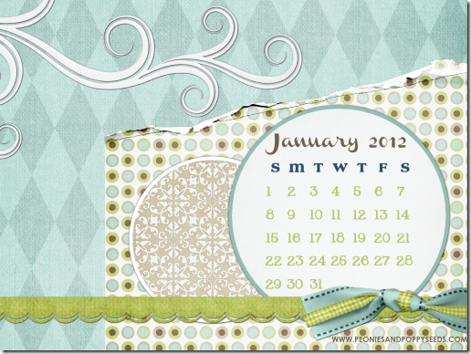 peoniesandpoppyseeds january 2012 desktop calendar screenshot