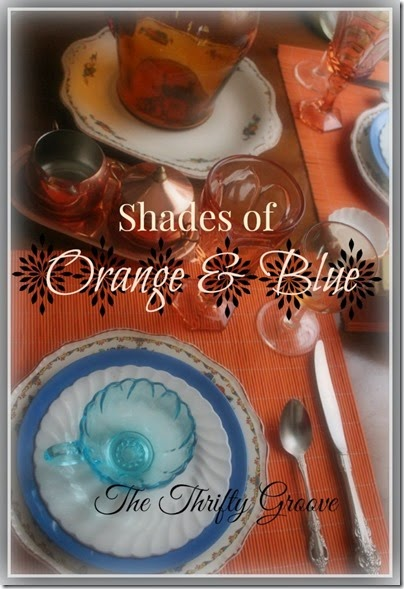 shades of orange and blue