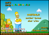 The Simpsons in Mario World