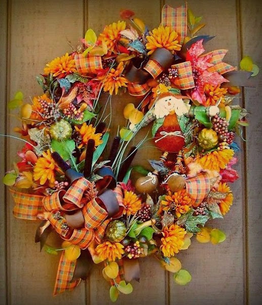 Fall Wreath Ideas 043 Fall Wreath Ideas