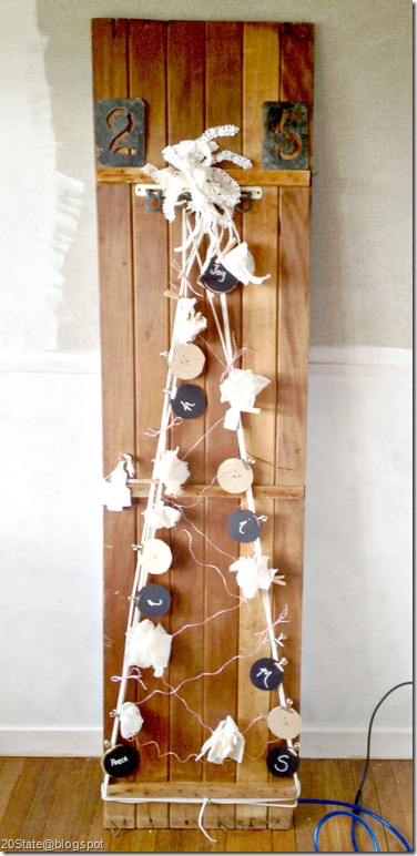 DIY timber christmas tree