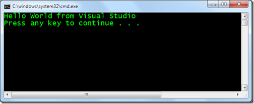PythonApplicationfromvisualStudioOutput