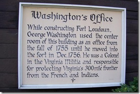 Sign on front of George Washington office in Winchester, VA