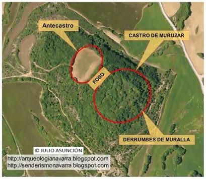 Vista satélite castro Muruzar