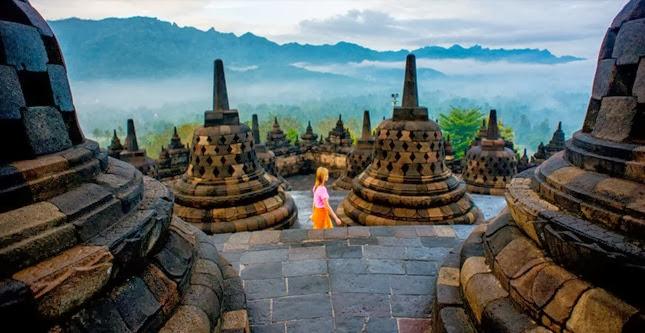 Borobudur, um templo budista