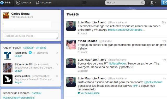 osas tiene Twitter que Facebook no tiene