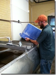 grain into mashtun