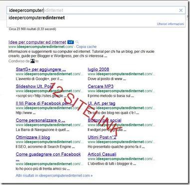 sitelink di google