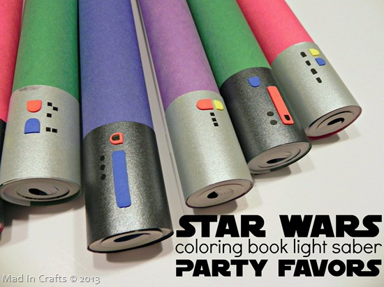 coloring book light saber party favors