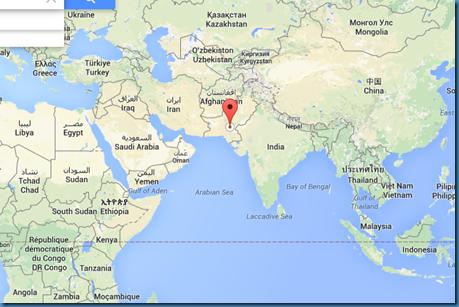 Localização de Mohenjo-daro