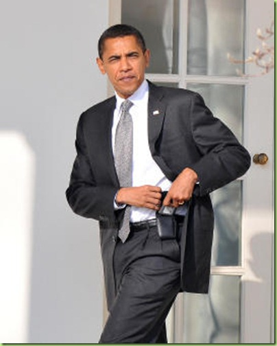 Obama walks to Oval Office