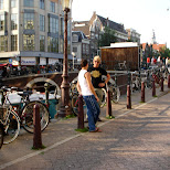 downtown amsterdam in Amsterdam, Noord Holland, Netherlands