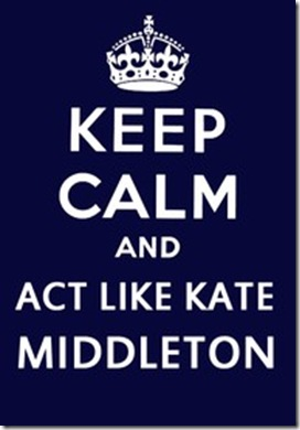 act like Kate Middleton