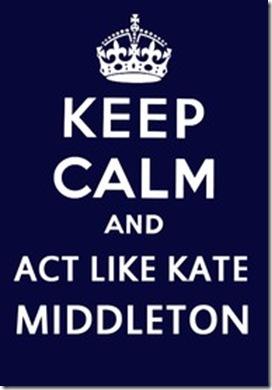 act like Kate Middleton