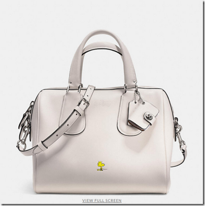 COACH X Peanuts surrey satchel - USD 450 - silver chalk