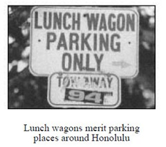 Lunch Wagon Parking Only