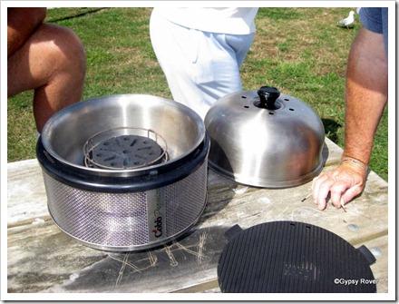 Geoff's Cobb cooker/BBQ.