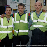 The Fire Brigade team who took part in the Traders' Race in the Crossmolina Festival. The event was sponsored by Ballina Beverages Coca-Cola. Picture: John O'Grady.