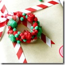 Pompom wreath ornament s