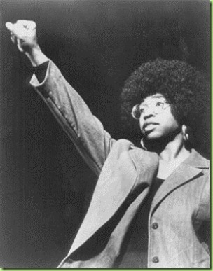 angela black power salute