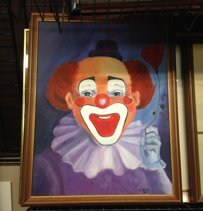 thriftscorethursday clown painting