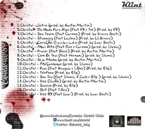 Christal - Mixtape 'Voo 89' [Capa Back]