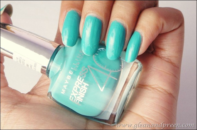 Maybelline Express Finish Turquoise Lagoon Nails