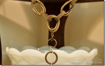 Antique Gold Chain Loops