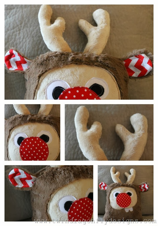 Holiday Plush Reindeer Collage