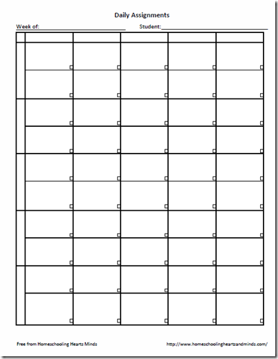 Weekly Assignment Sheet Template from lh4.ggpht.com