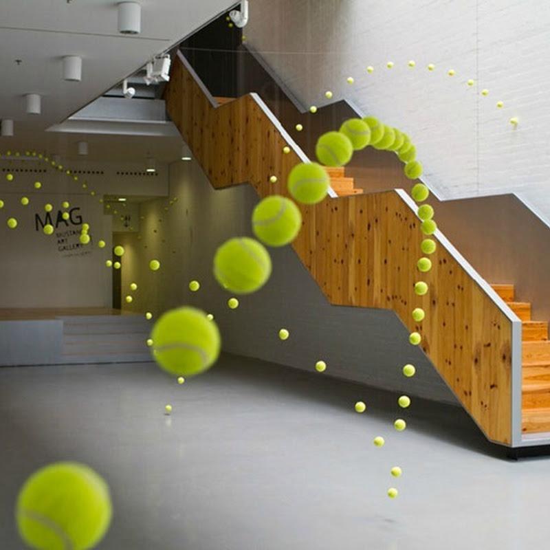Ana Soler's Spectacular Tennis Ball Installation