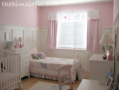 Pink shared girls room