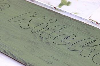 Sign lettering