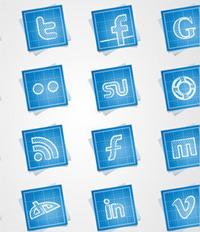 14 paquetes de íconos de redes sociales para descargar
