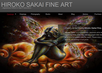 hiroko sakai website design
