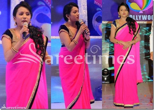 Suma_Pink_Plain_Saree
