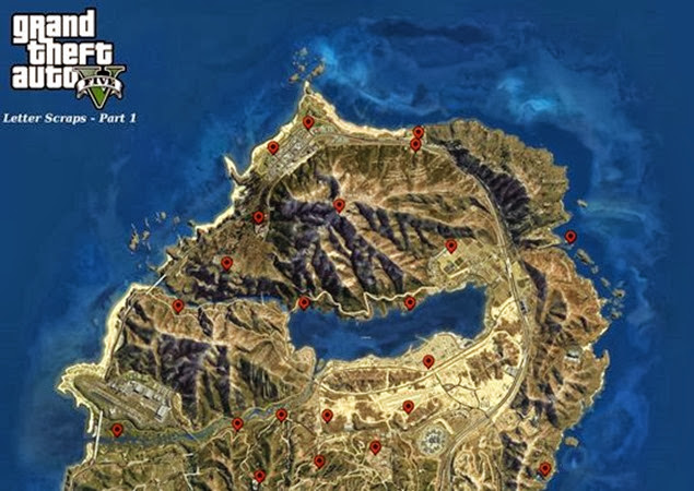 gta 5 letter scraps locations guide 02 upper map bb