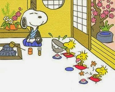 snoopy's tea ceremony